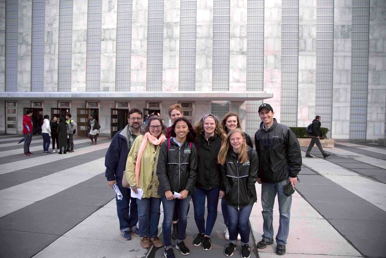 Eye-opening trip to UN for NHS
