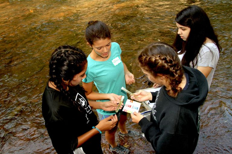 Biology students learn about local ecosystems
