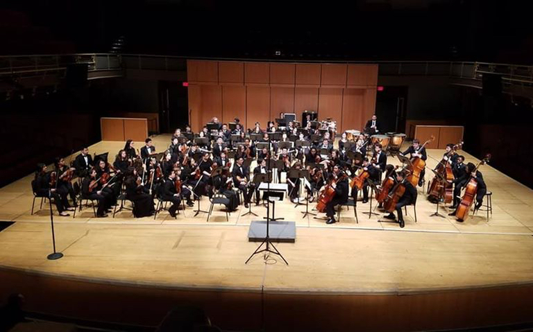 Dock musicians perform with Philly Youth Orchestra
