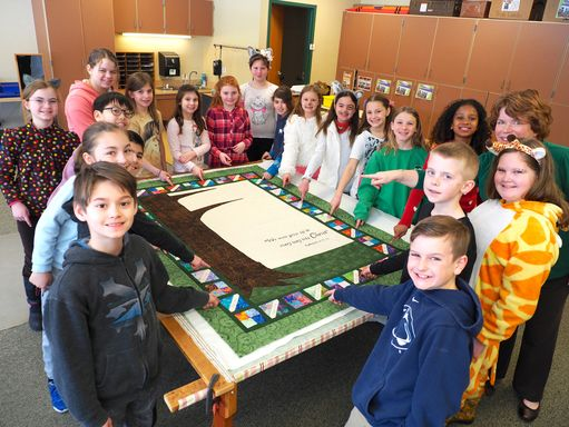 Excitement builds over 4th grade quilt