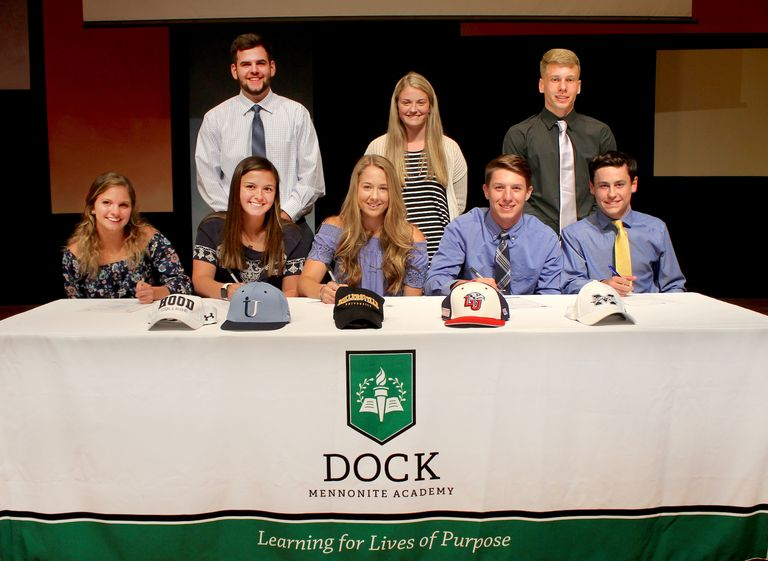 Athletes make college commitments